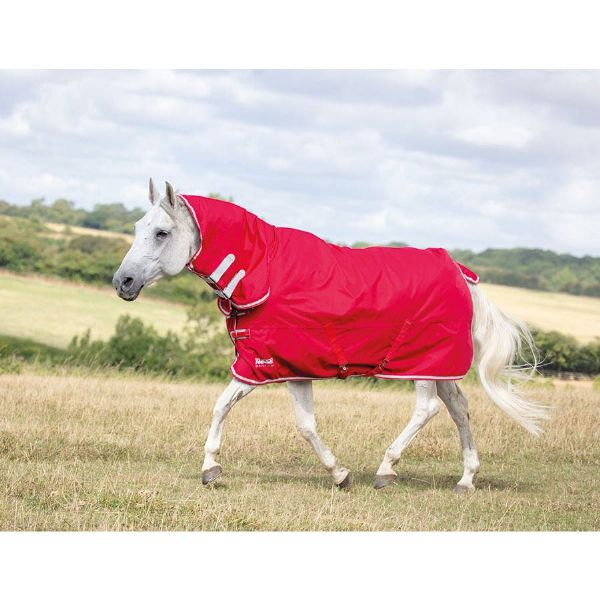 Shires Tempest Original Lite Combo Turnout Rug - Red/Grey